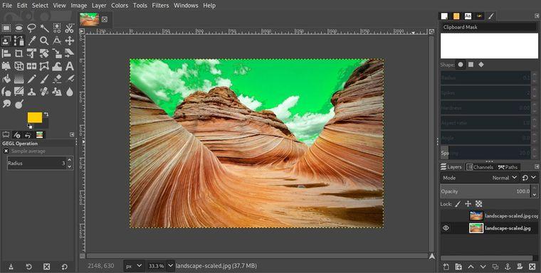 fotos editadas con gimp