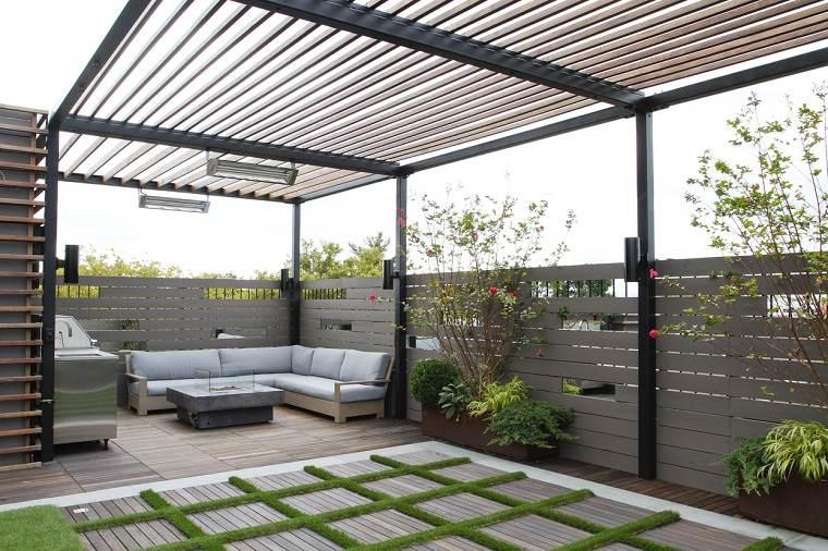 jardines pequeños con encanto-pergola-ideas