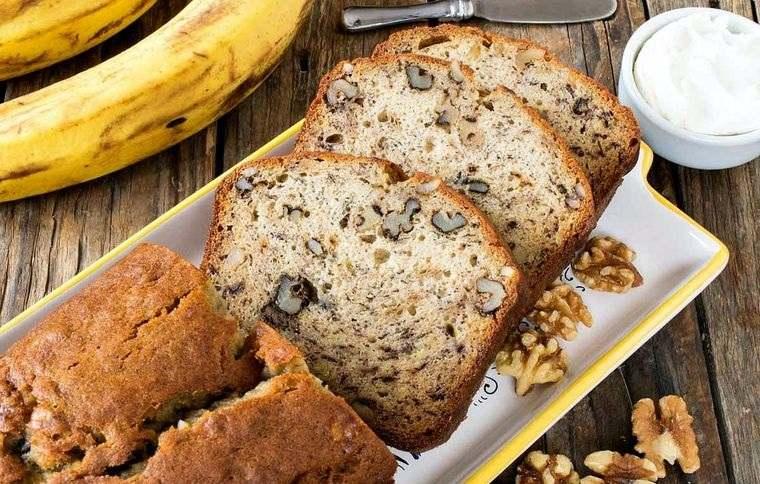 pan de plátano con nueces