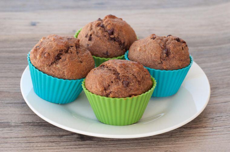 pan de plátano muffins