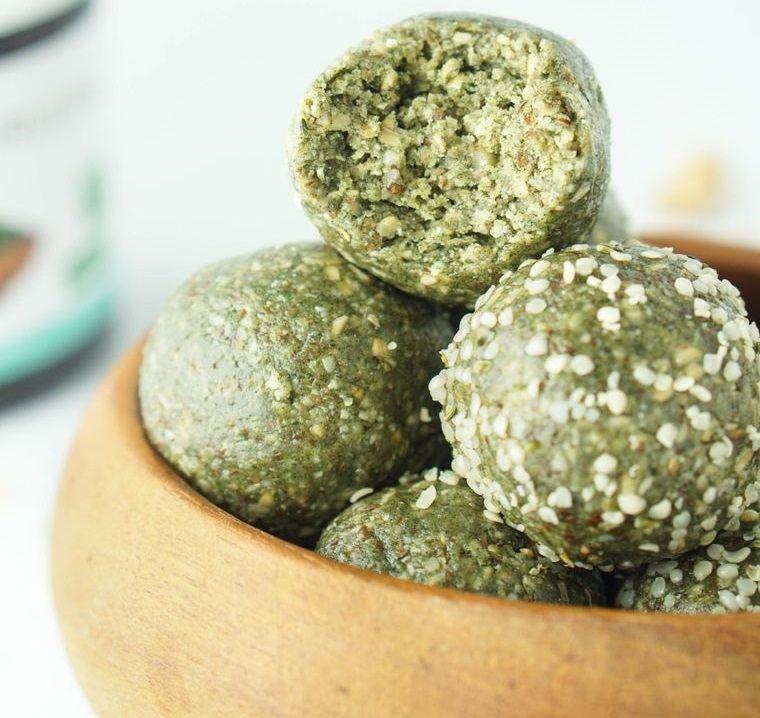 semillas de cáñamo espirulina bolas energeticas