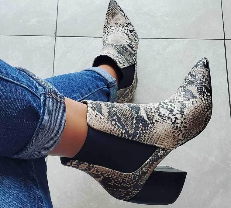 zapatos botines con punta para mujer