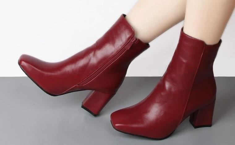 zapatos botines puntas cuadradas mujer