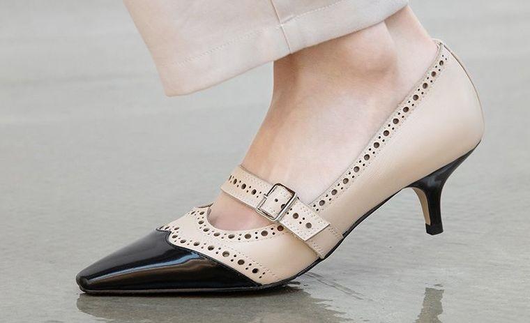 zapatos con tacon gatito mujer