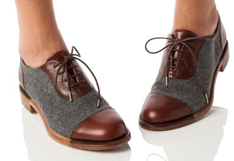 zapatos oxfords para mujer