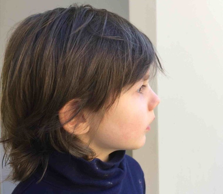 cortes de cabello largo liso niños