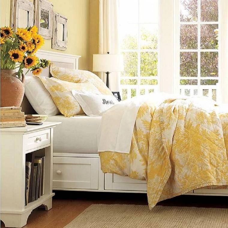 dormitorio-blanco-amarillo-ideas