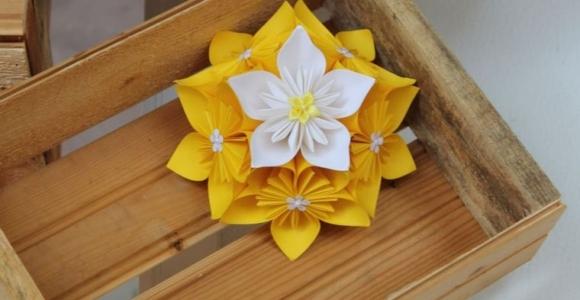 flores de papel bricolaje