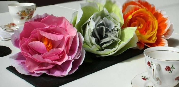 flores de papel centro de mesa