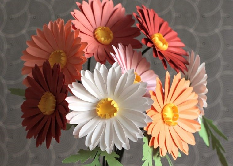 flores de papel lindas margaritas