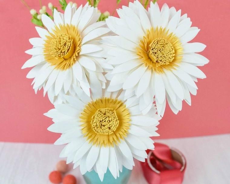 flores de papel margaritas