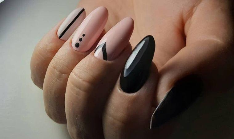 manicura en forma ovalada tendencia