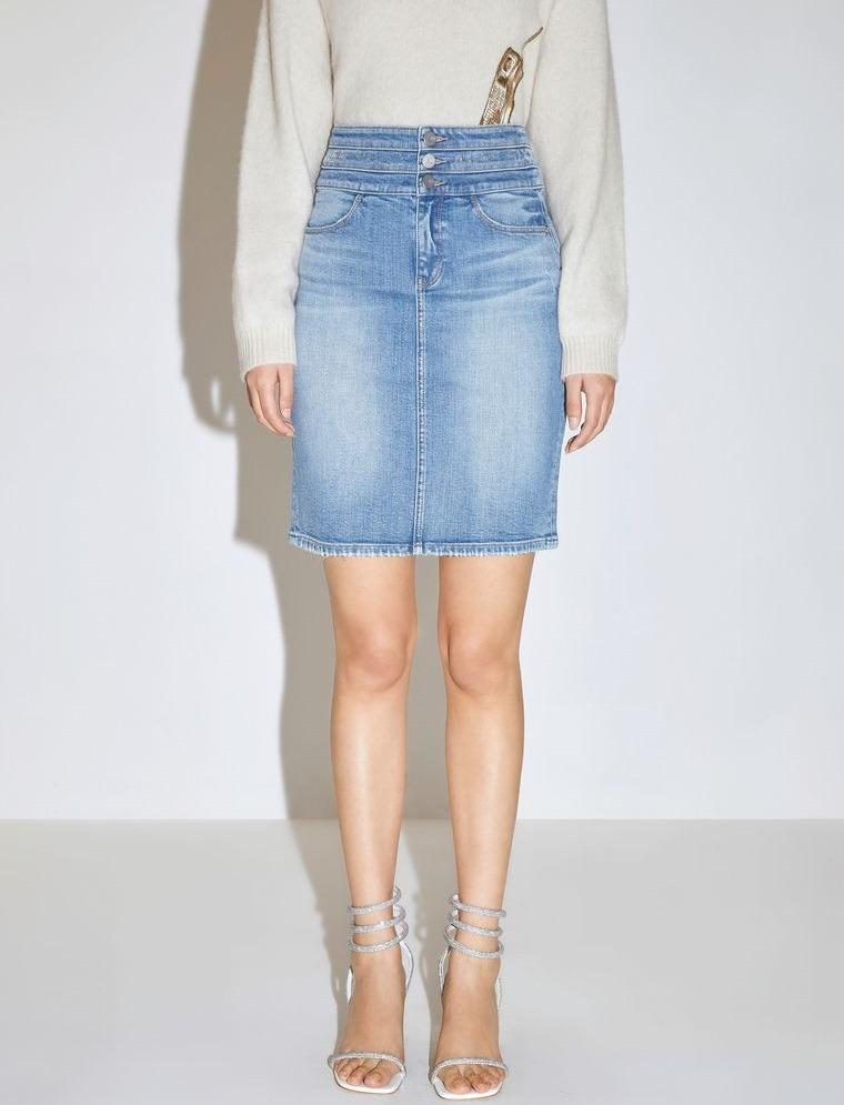 mezclilla falda estilo casual