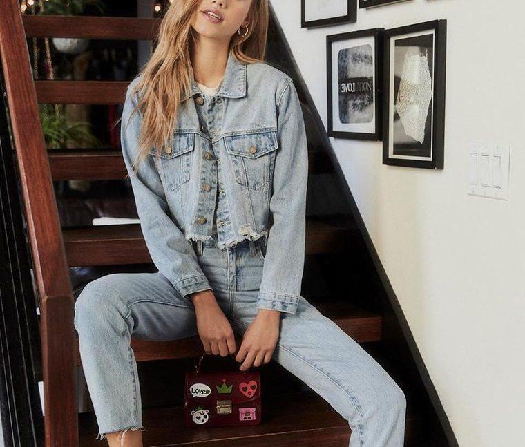 mezclilla jean con chaqueta