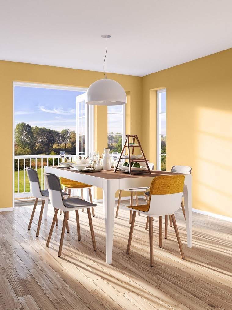 pared-color-amarillo-comedor-ideas