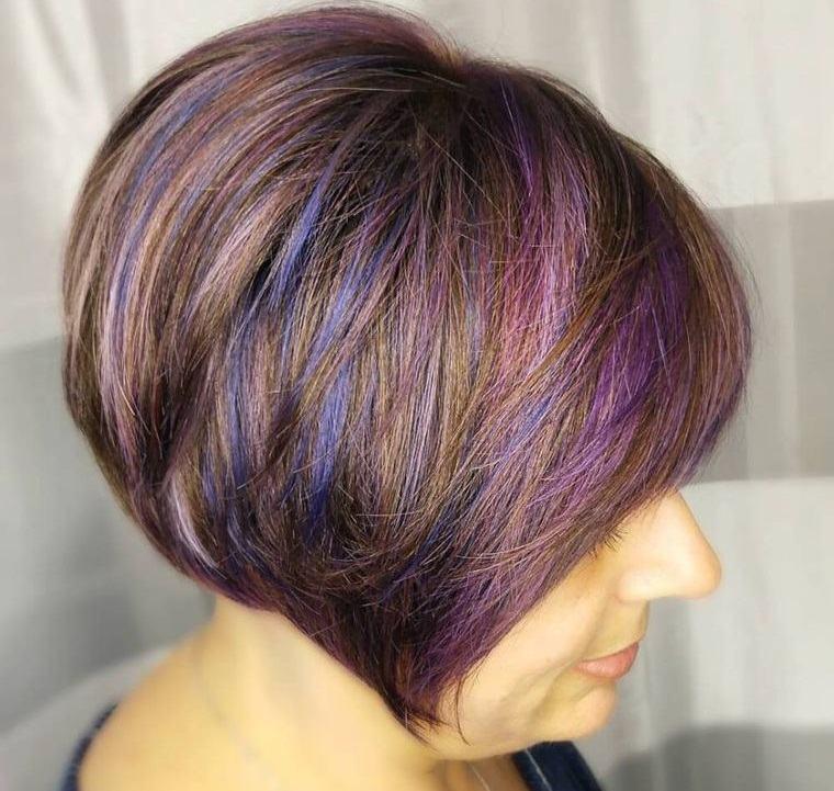 peinados modernos con mucho color