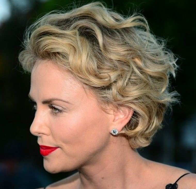peinados modernos corto con ondas