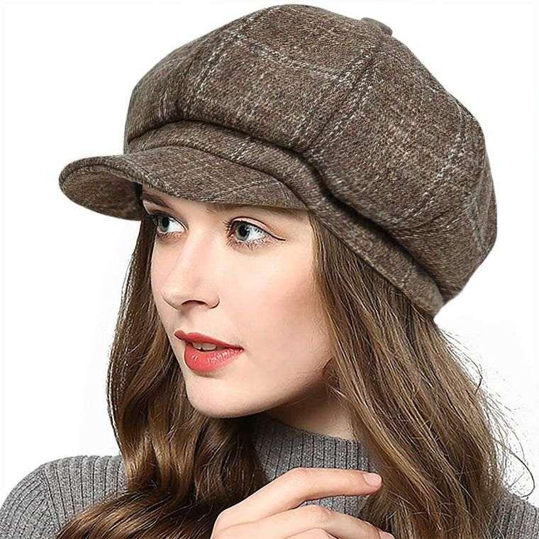 sombreros de mujer gorro vendedor periodico