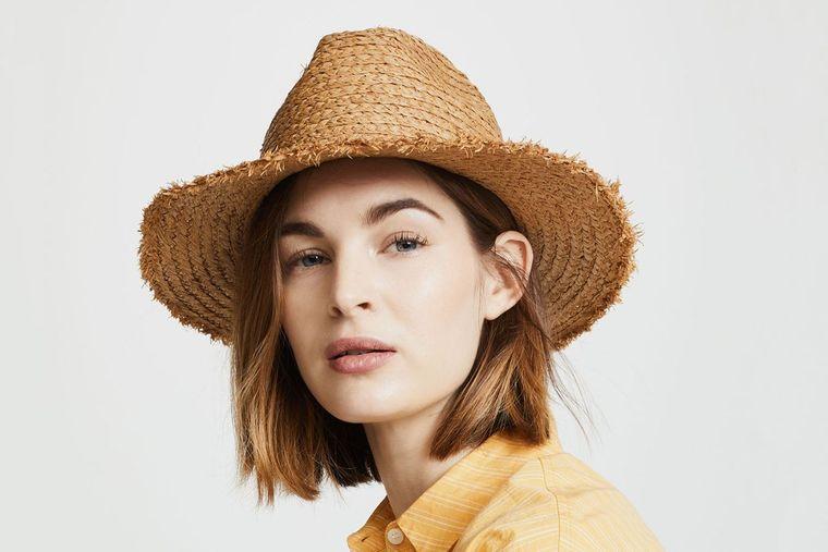 sombreros de mujer paja