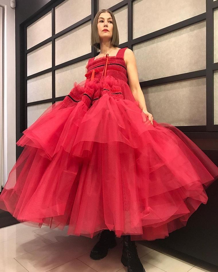 Molly-Goddard-vestido-rojo