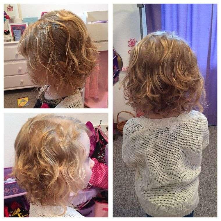 cortes de pelo de niña modernos bob ondulado