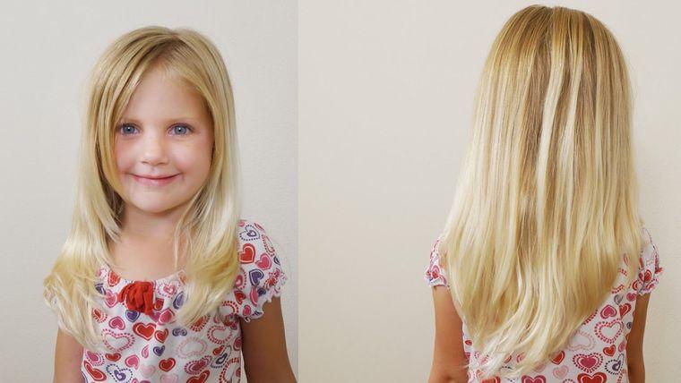 cortes de pelo de niña modernos capas largas