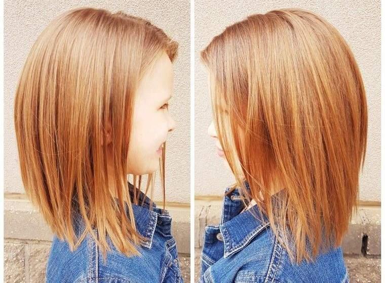 cortes de pelo de niña modernos media melena
