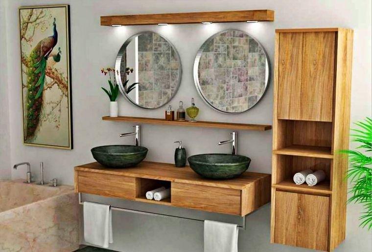 decoración balinesa baño moderno
