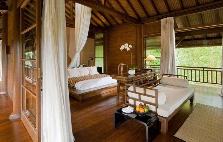 decoración balinesa dormitorio