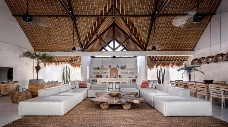 decoración balinesa gran sala de estar