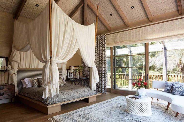 decoración balinesa interior acogedor