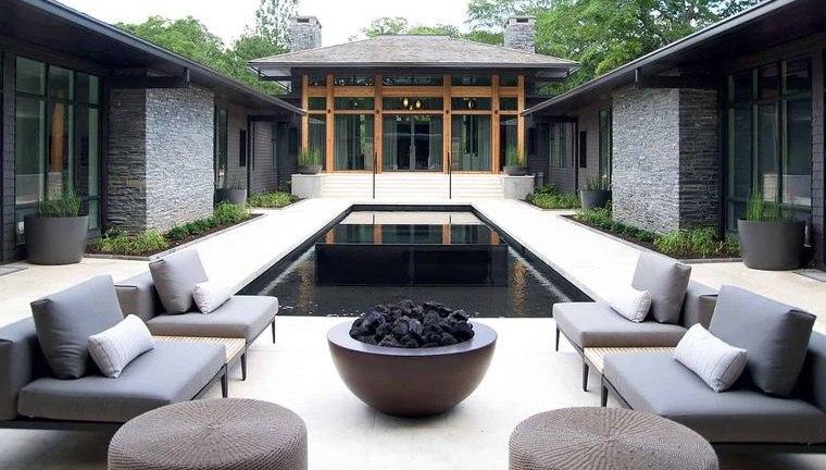 decoración balinesa moderna exterior