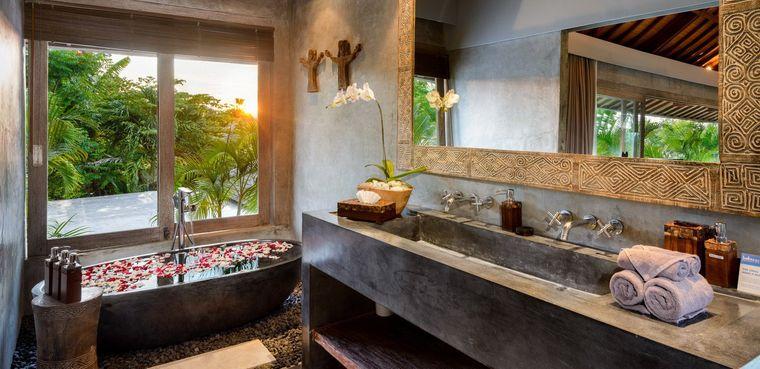 decoración balinesa para baños