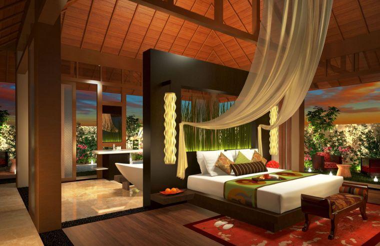 decoración balinesa para dormitorio