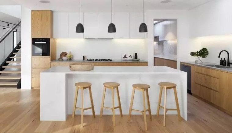 decoración de interiores cocina madera