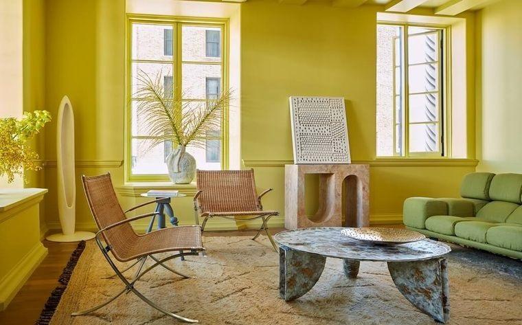decoración de interiores color amarillo