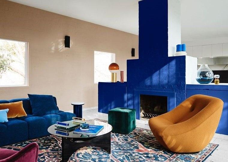 decoración de interiores color azul