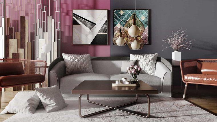 decoración de interiores color lila