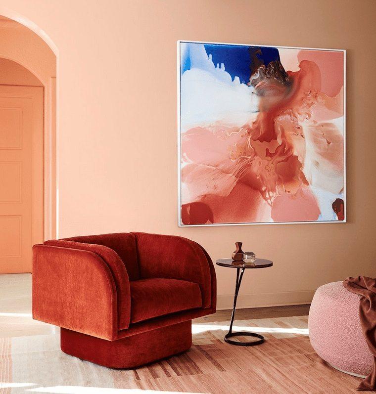 decoración de interiores color rojo