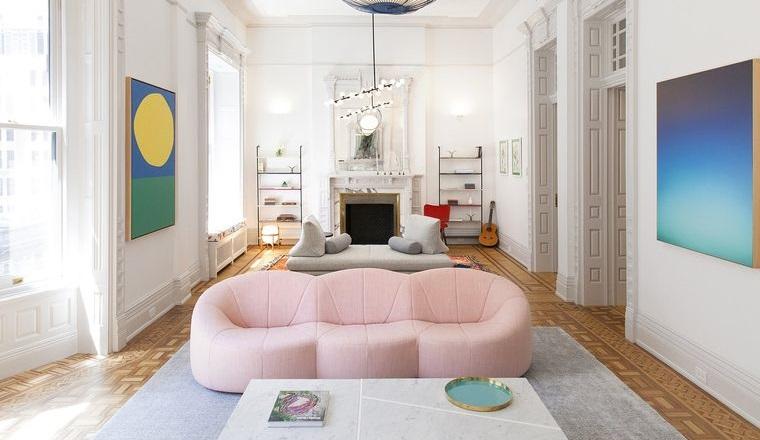 decoración de interiores color rosa