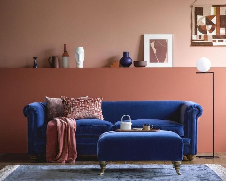 decoración de interiores colores azules