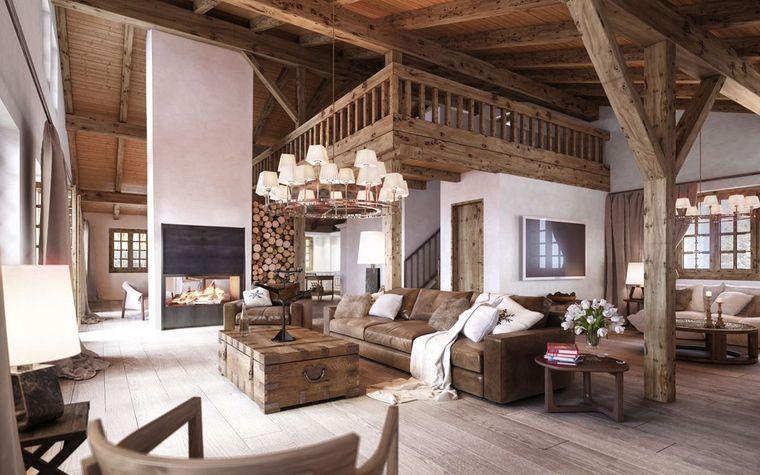 decoración de interiores estilo rustico