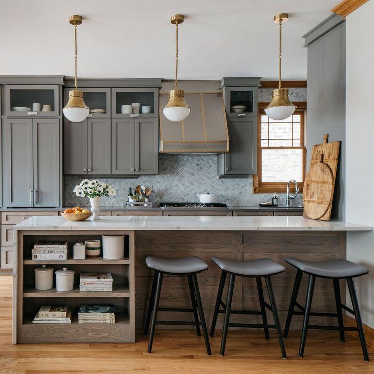 decoración de interiores metal cocina