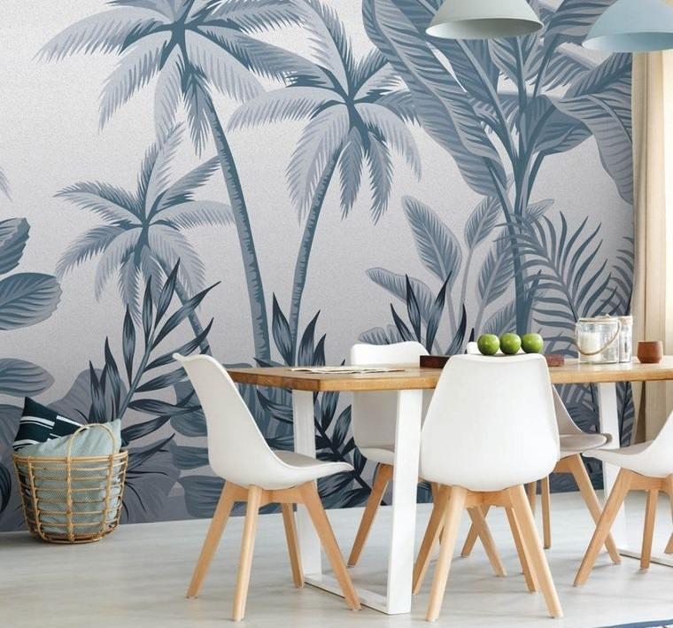 decoración de interiores papel pintado