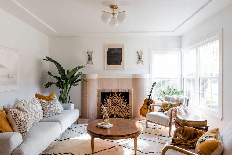 decoración de interiores sala de estar materiales