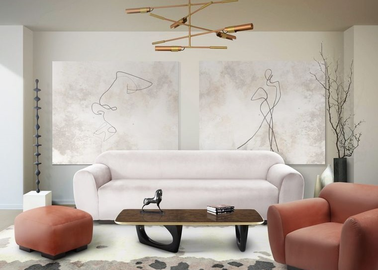 decoración de interiores sala de estar minimalista