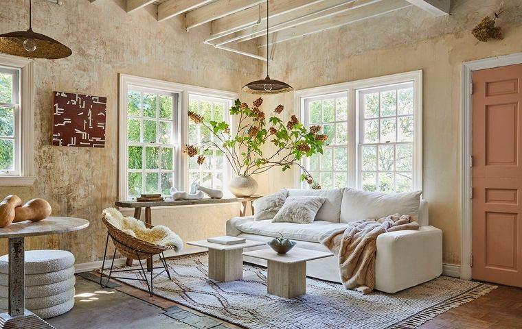 decoración de interiores sala de estar rustica