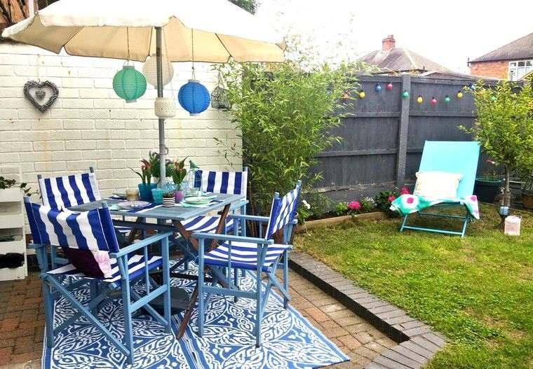 decoración de jardines alegres