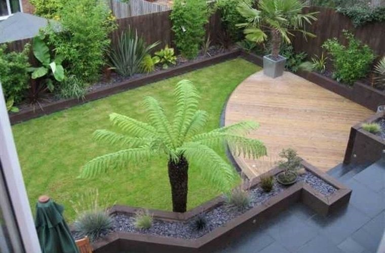 decoración de jardines con cesped