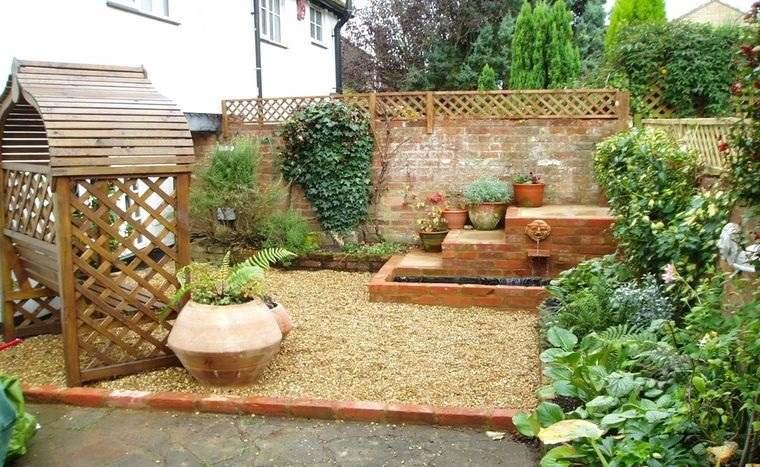 decoración de jardines con ladrillos